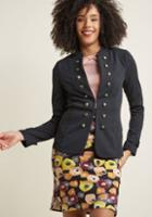 Modcloth Glam Believer Knit Jacket In Black In 3x