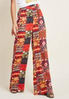 Modcloth Floral Wide-leg Palazzo Pants In Patchwork In 4x