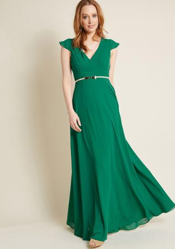 Modcloth Opulent Engagement Maxi Dress In L