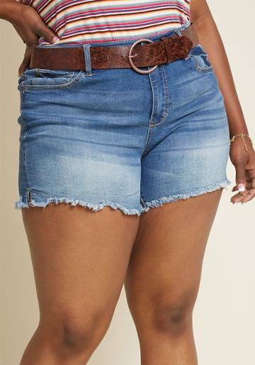 Modcloth Chill At Will Denim Shorts In 5