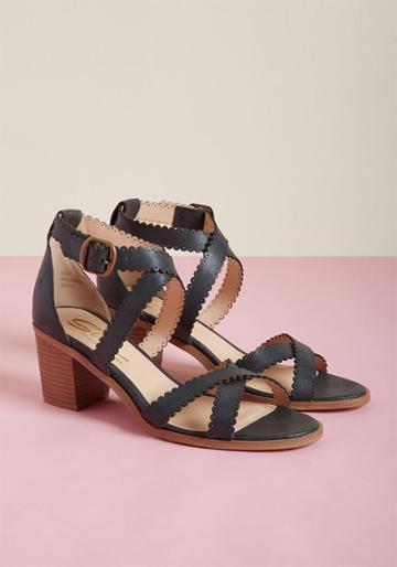Modcloth Amorous Asset Block Heel Sandal In 8