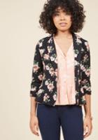 Modcloth Business Is Blooming Floral Blazer In L