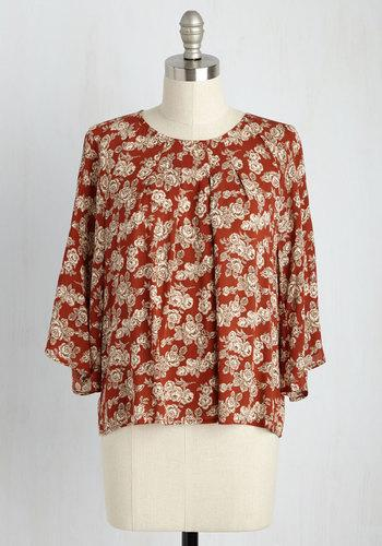 Ode To Dress Code Floral Top In L