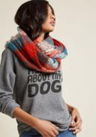 Modcloth Cozy And Colorful Circle Scarf