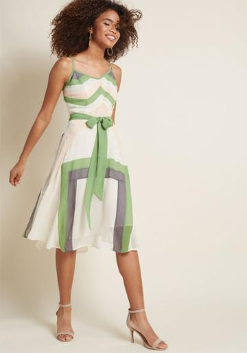 Modcloth Pleasant Plans Colorblock Dress In Xxs