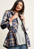 Modcloth Lightweight Anorak Jacket With Hood In S