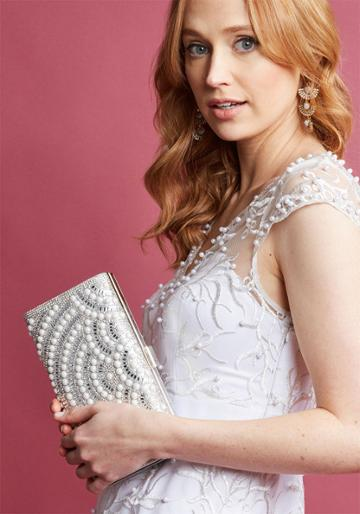 Modcloth Irresistible Addition Beaded Clutch
