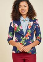 Fab Floral Designer Blazer In S
