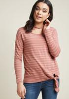 Modcloth Relaxed Reunion Tied Top In M
