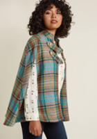 Modcloth Pardon My French Quarter Cape In Plaid In 2x