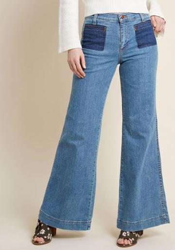 Wrangler Wrangler X Mc Wide-leg Whim Jeans In Stone Wash - 33 In 0