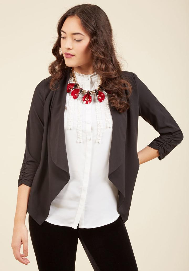 Modcloth Marketing Maven Blazer In Black