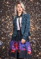 Intergalactic Intuition Midi Skirt In Xxs