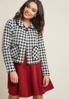Modcloth City Cheers Cropped Jacket In 1x