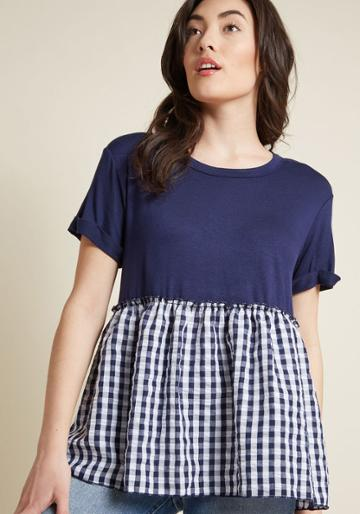 Modcloth Meet Me Alfresco Peplum Top In 3x