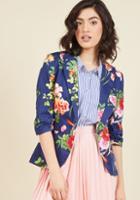 Modcloth Fab Floral Designer Blazer