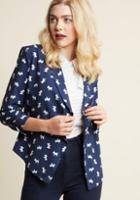 Modcloth Marketing Maven Blazer In Westies