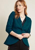 Modcloth Fine And Sandy Blazer In Teal In L