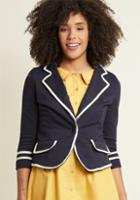 Modcloth Academia Ahoy Blazer In Navy In S