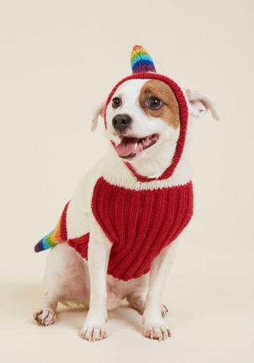 Modcloth Kooky Pooch Dog Sweater In Unicorn