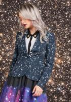 Stargazing Splendor Blazer In Constellations In Xl
