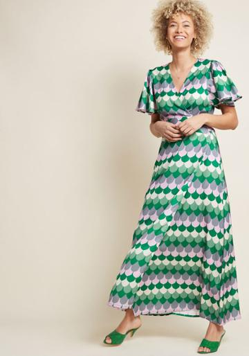 Modcloth Appreciated Era Maxi Dress In S