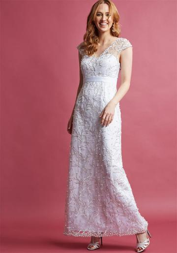 Modcloth Romantic Revelries Maxi Dress In White In 2x
