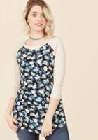 Modcloth Pattern Up! Knit Top In Black
