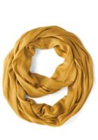 Modcloth Brighten Up Circle Scarf In Mustard