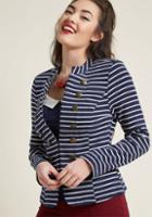 Modcloth Ahoy, Adorable! Knit Blazer In 1x