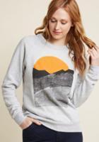 Kinship Alpine Shine Sweatshirt In Stone In Xl