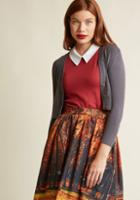 Modcloth The Dream Of The Crop Cardigan In Ash In 2x