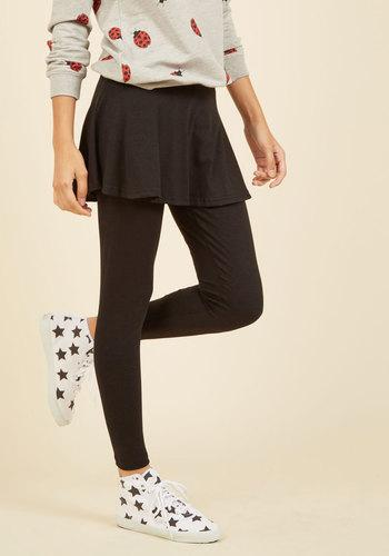 Skirt With The Idea Leggings In Black In 4x