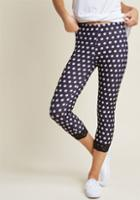 Modcloth A Fine Foundation Leggings In Dotted Black In 4x