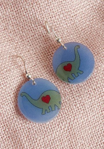Modcloth Gotta Whole Bronto Love Earrings