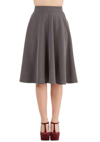Rocksteadysteadyclothingin Bugle Joy Skirt In Grey