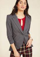 Modcloth Fine And Sandy Blazer In Stone