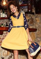 Zest Of The Bunch A-line Dress In Marigold In 4x