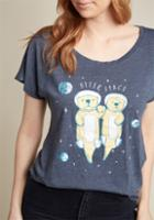 Modcloth Forever Floating Graphic Tee In S