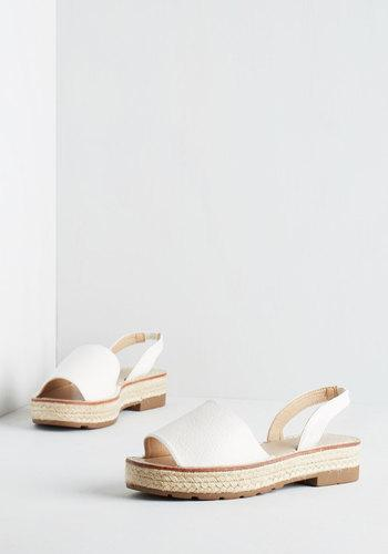 Wantedshoesinc Daytime To Go Sandal In White