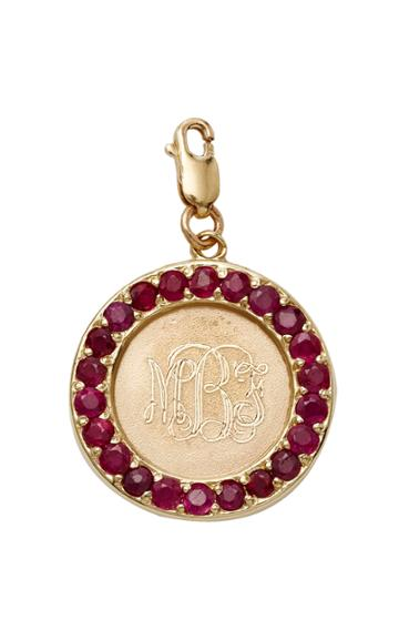 Moda Operandi Emily & Ashley Monogrammable Ruby Charm