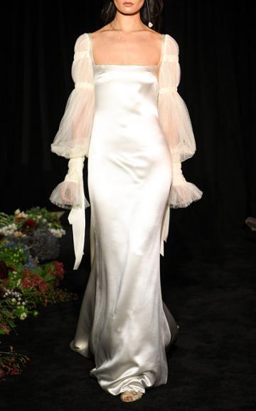 Moda Operandi Danielle Frankel Ruby Silk Wool Gown Size: 2