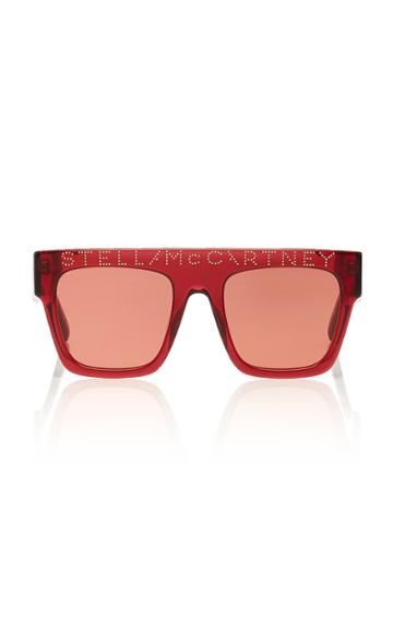 Stella Mccartney Sunglasses Logo Stud-embellished Square-frame Sunglasses