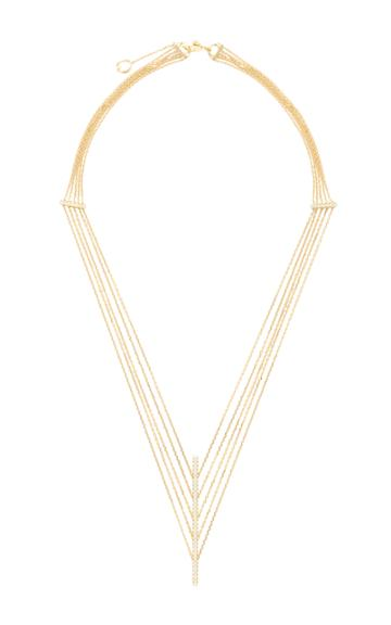Qayten X.f. Yellow Gold And Diamonds Necklace