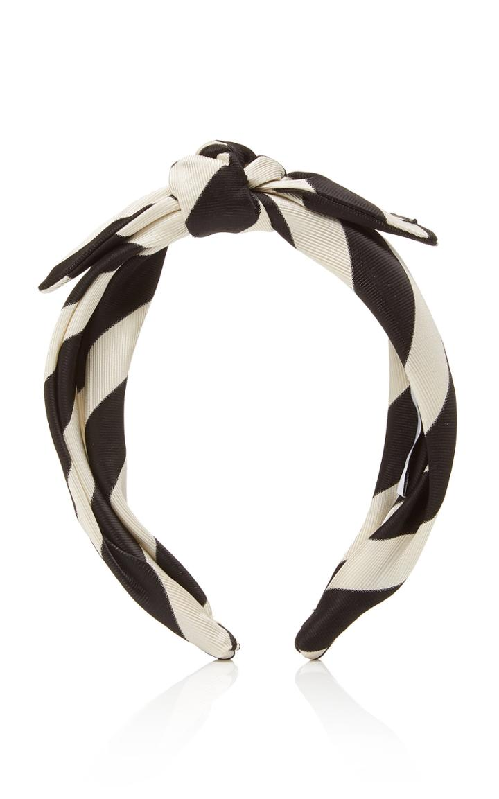 Maison Michel Sienna Striped Satin Headband