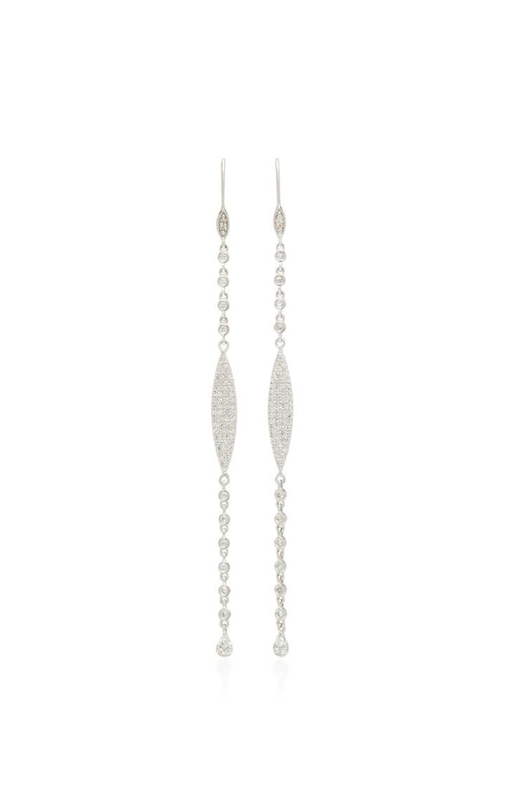 Meira T 14k Gold White Diamond Earrings