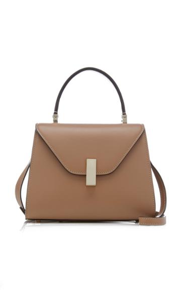 Valextra Iside Small Glossy Smooth Leather Top Handle Bag