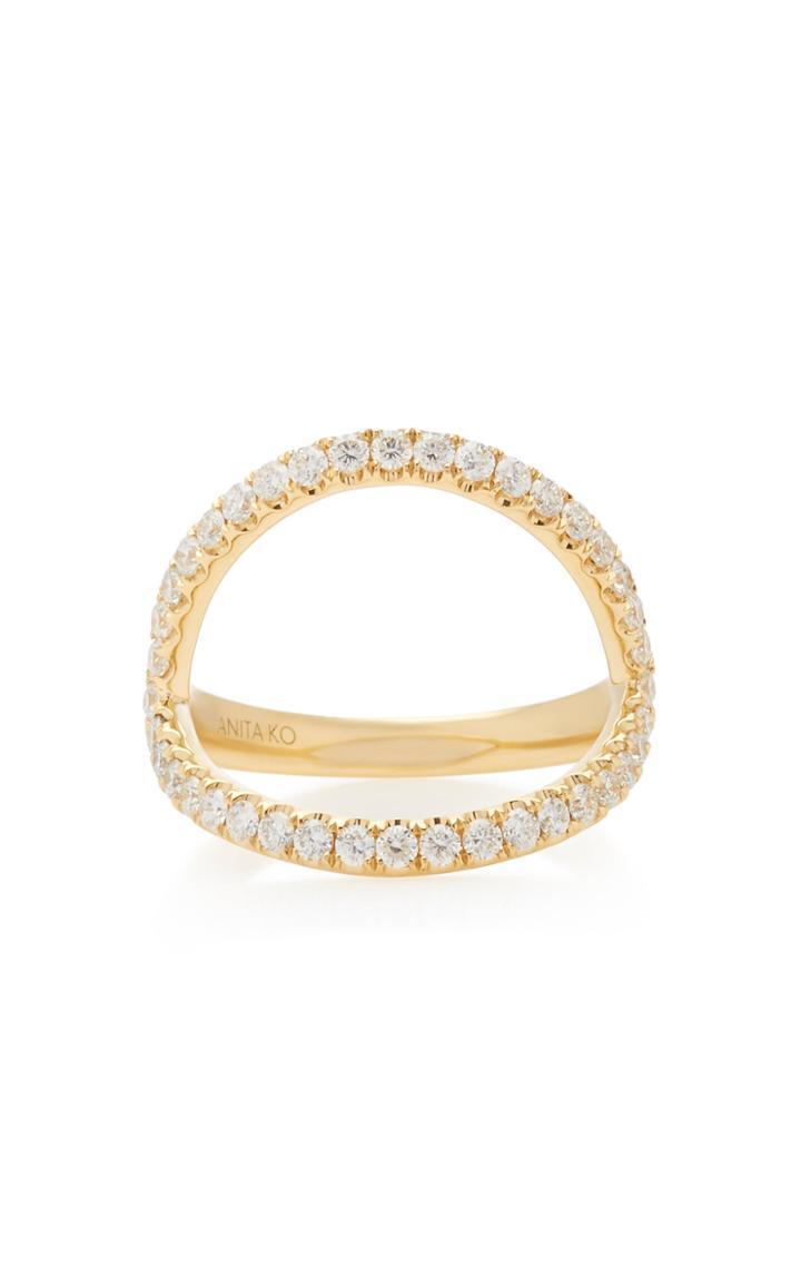 Anita Ko Arc 18k Gold Diamond Ring