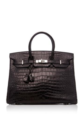 Heritage Auctions Special Collection Hermes 35cm Black Matte Porosus Crocodile Birkin