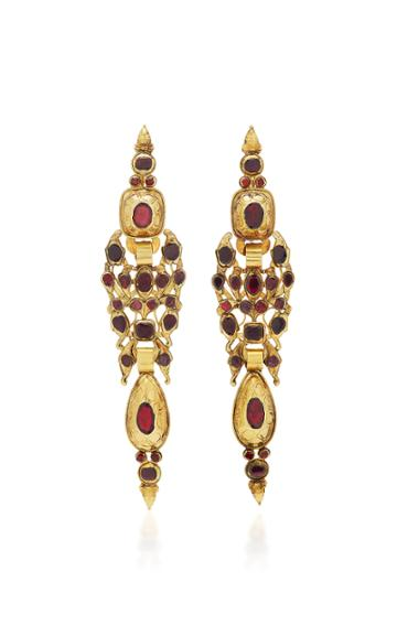 Simon Teakle Antique Iberian And Gold Drop Earrings